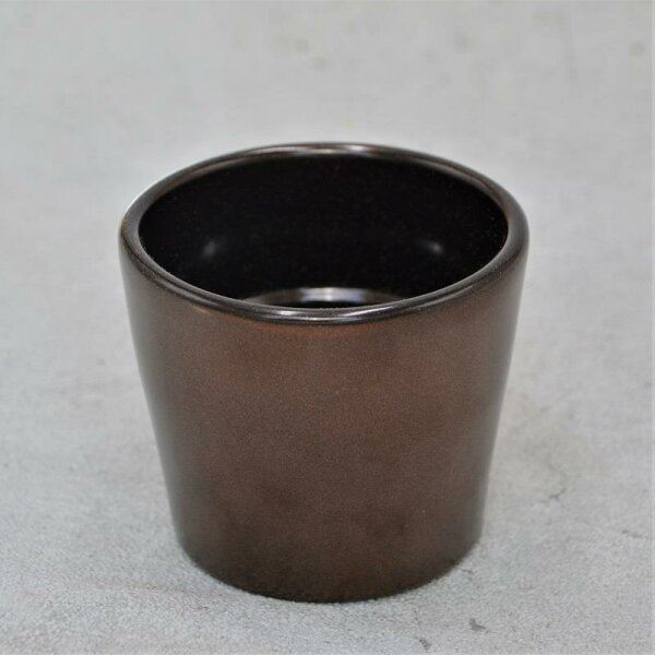 Übertopf dunkles Kupfer für 6cm Sukkulenten