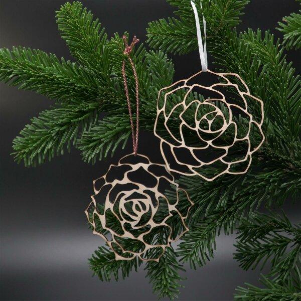 Pasiora Holz- Ornamente 2er Set