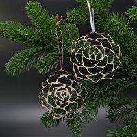 Pasiora Holz-Ornamente 2er Set
