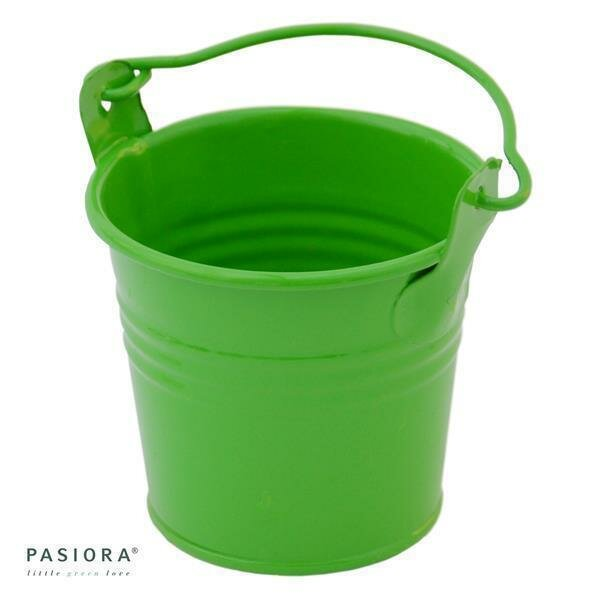 Zink- Eimer, Grün für 5,5cm Sukkulenten