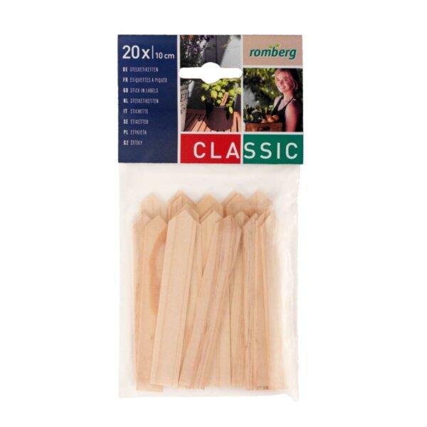 Holz-Stecketiketten zur Pflanzenkennzeichnung