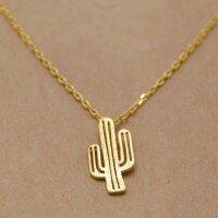Kaktus  Kette, Gold