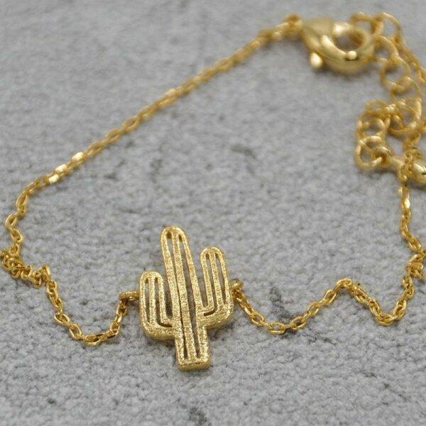 Kaktus Armband, Gold